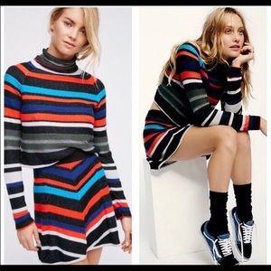 NWT Free People XS Mini Skirt + Sweater Set